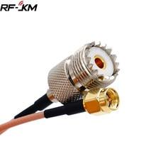 Uhf so239 fêmea pl259 para sma macho plug friso adaptador rg316 cabo jumper trança