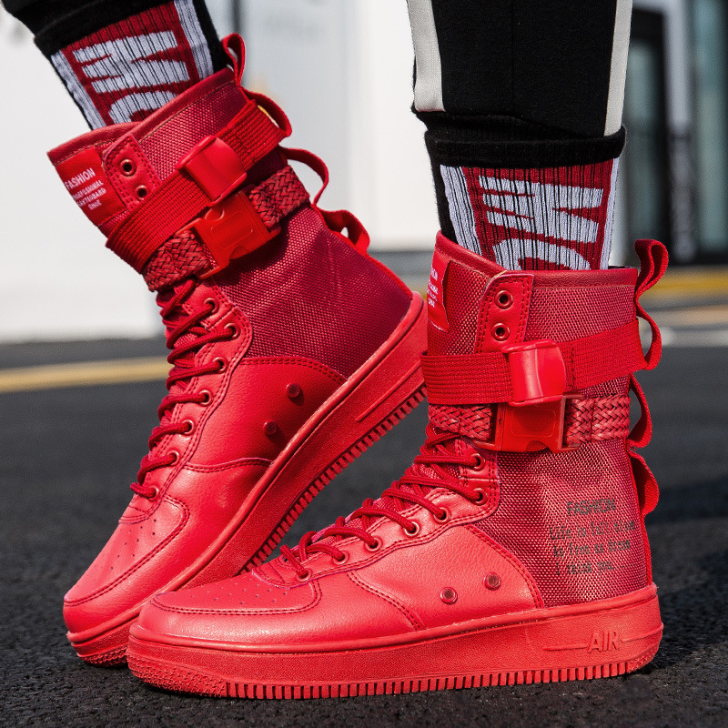 Autumn Winter Working Shoes Hip Hop Street Fashion Men Jason Martins Boots Buckle Strap High Top Sneakers Big Size 36~45