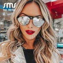 Vintage Steampunk Sunglasses Women 2020 Fashion Mirror Pilot Sunglasses Men Retro PU Leather Frame Punk Sunglasses Eyewear UV400