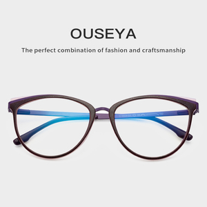 Image 5 - TR90 Womens Glasses Frame Transparent Spectacle Frame Myopia Optical Female Eyeglasses Frame Glasses Without Degree #C18825