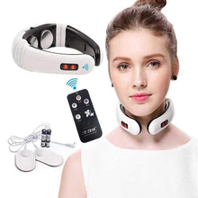 Electric Pulse Head Back Neck Massager Far Infrared Heating Pain Relief Tool Health Care Relaxation CW31
