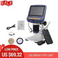 "AD106S 10X-220X 4.3"" LCD Digital Microscope Durable USB Adjustable Light Microscopio 30f/s HD LED Display Screen Mikroskop"
