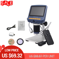 AD106S 10X 220X 4.3 LCD Digital Microscope Durable USB Adjustable Light Microscopio 30f/s HD LED Display Screen Mikroskop