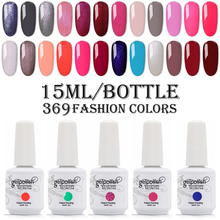 Kismart 369 Colors 15ml Gel Nail Polish Gelexus Nai
