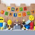 Кирпичное здание украшение для торта на день рождения на тему