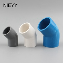 ID 20 25 32 40 50mm PVC Water Supply Pipe 45 Degree Elbow Pipe Connector Upper Water Pipe Fittings Garden Irrigation Pipe Joints id 20 25 32 40 50mm pvc water supply pipe male thread straight connector water pipe quick connector garden irrigation pipe joint