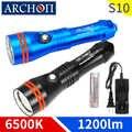 ARCHON S10 6000k 1200lm Дайвинг светильник ing флэш светильник подводный 100 м водонепроницаемый фонарь для дайвинга светильник Точечный светильник s ...