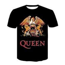 2020 New QUEEN T Shirt for Men/Women Short Casual 3D Print T-shirt Queen Rock Band T Shirts Black T-shirts streetwear tshirt