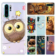 Animal Owl Colorful Phone Case For Huawei P10 P20 P30 P40 Lite