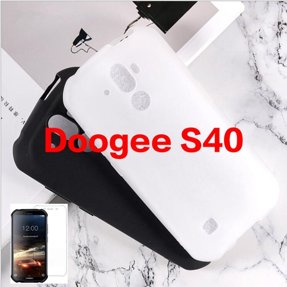 For Doogee S40 Case For Doogee S40 Cover + Screen Protector Tempered Glass Protective Film For Doogee S40(China)