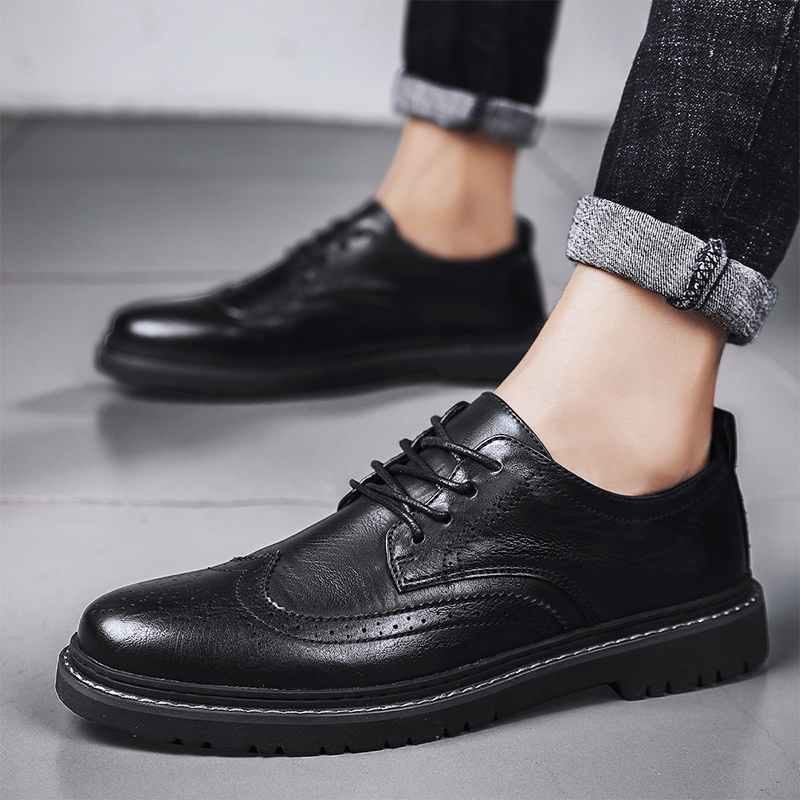men Dress shoes Leather Derby Casual Formal Brand Party Wedding Luxury Men's Oxford brogue Alligator Shoes business office shoes