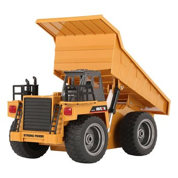 HUINA 1540 1/18 2.4G 6CH Alloy Version 360 Degree Rotation RC Dump Truck Construction Engineering Vehicle Kid RC Model Toy