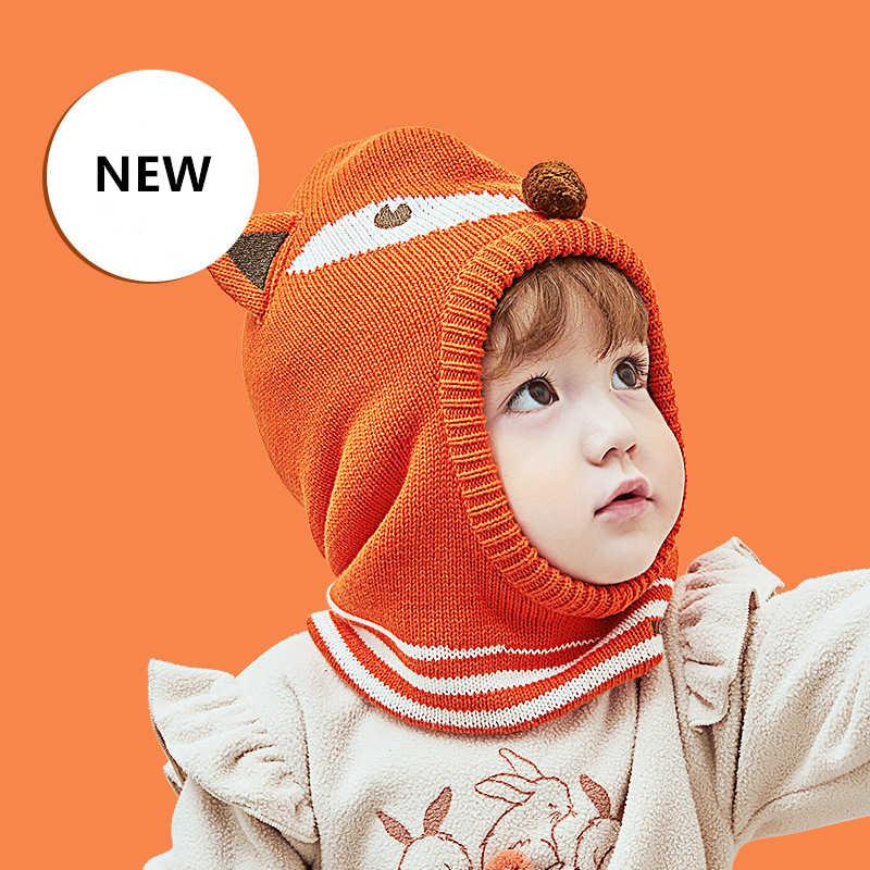 Kocotree 2 pçs/lote Hat & Cachecol Tampão Do Inverno Do Bebê Do Inverno Do Bebê Beanie Chapéus Lenços Crianças Cachecol Quente Para Meninos Terno Para O Menino Menina