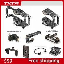 Tilta BMPCC комплекты клетка Камера клетка для карманных видеокамер Blackmagic Кино Камера для Blackmagic для крепления микрофона монитора светодиодный светильник