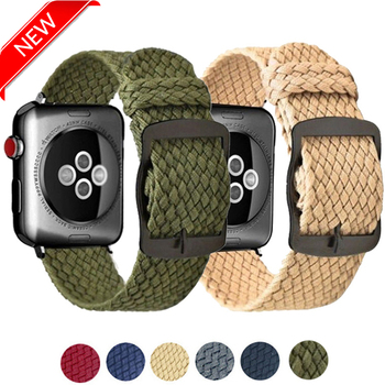 for apple watch series 4 band real carbon fiber watch straps for apple watch series 1 2 3 iwatch 38 4mm men s wrist bracelet Sport Nylon Band  for iwatch Series 6 5 4 3 2 1 Bands 38mm 42mm Replacement Loop straps For Apple Watch 5 4 3 40mm 44mm bracelet