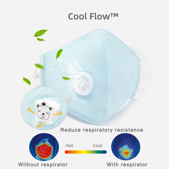 Children Masks 8 Layer Protection Respirator Filter Washable Anti Flu Bacterial Anti Dust PM2.5 Kids Face Mouth Mask ffp2 N95 2