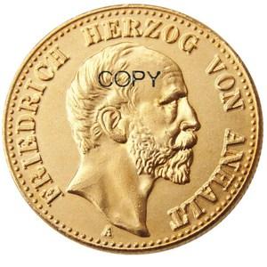 GERMAN ST. Anhalt-Dessau Friedrich I (1896 1901) 10 mark Gold Plated Copy Coin