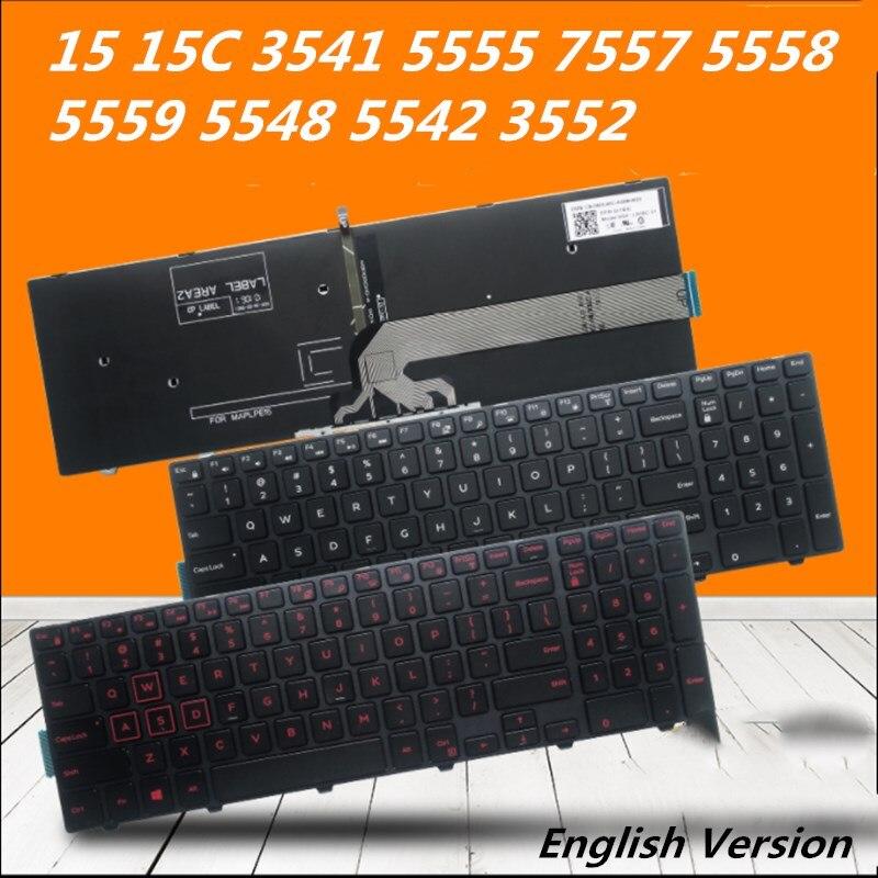 Ноутбук английская клавиатура для ноутбука Dell 15 15C 3541 5555 7557 5558 5559 5548 5542 3552 Тетрадь замена Раскладка клавиатуры