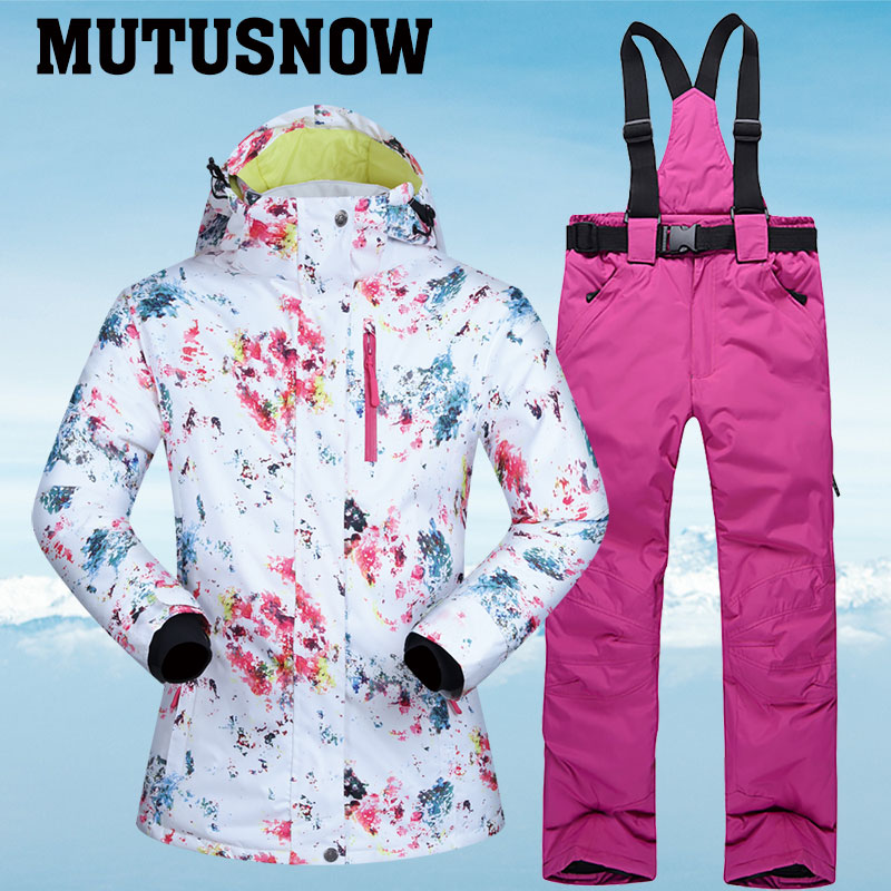 New Ski Suits Women Winter Snow Suit Female Skiing And Snowboarding Clothes Windproof Waterproof Outdoor Sports Jackets And Pant