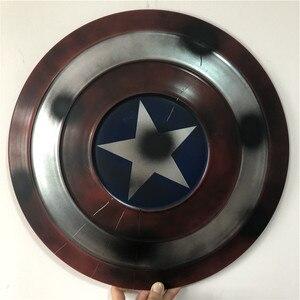 Image 5 - Le 1:1 Captain America bouclier complet métal rond bouclier arme Halloween super héros Cosplay accessoire enfants cadeau décoration