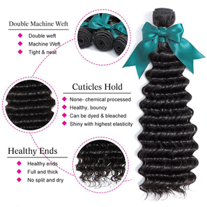Image 2 - Bling Hair 8 30 Inch Deep Wave Bundles Peruvian Human Hair Weave Bundles 100% Remy Hair Extensions Double Weft Free Shipping
