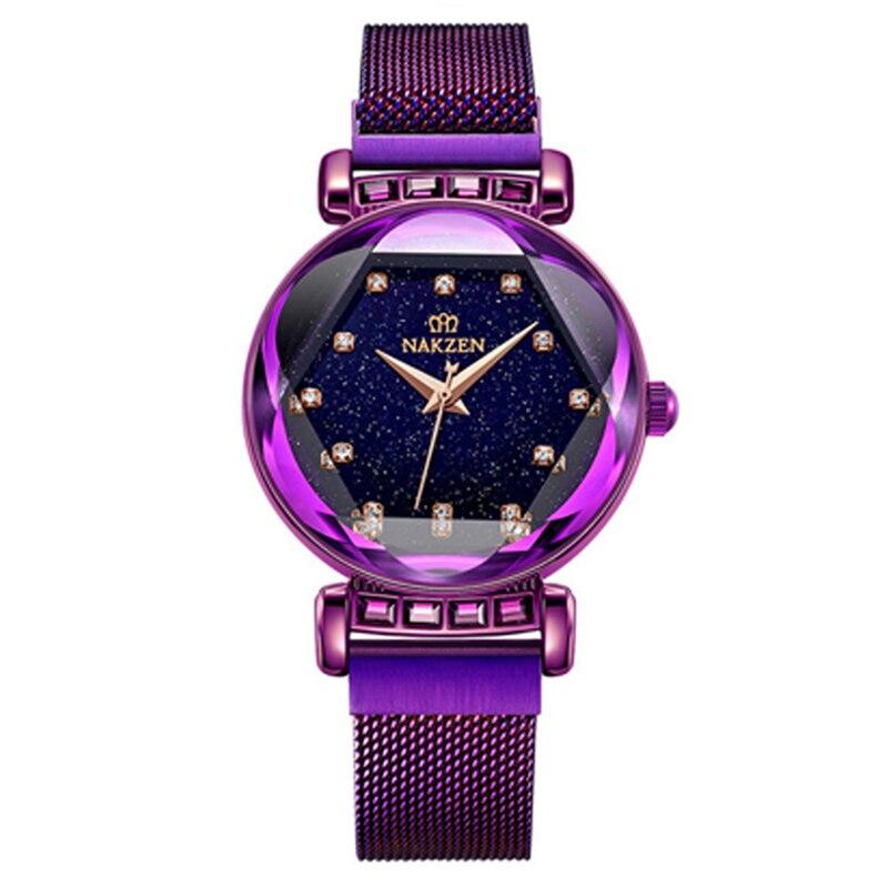 Quartz Women Watch Luxury Megenetic Band Woman Waterproof Shining Star Rhinestone Girls Wristwatch Ladies Relogios Femininos|Women's Watches| |  - title=