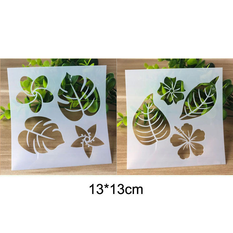 Stencil Flower And Leaf Painting Template Embossing Craft Bullet Journal Accessories Sjablonen For Scrapbooking Stencil Reusable