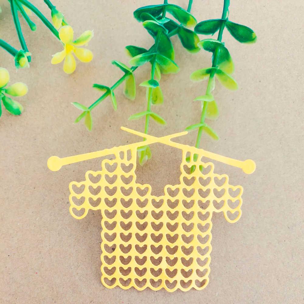 Rack de roupas de lã roupas camisola decorativo cartão de morrer de corte de papel faca de corte de metal carimbar morrer