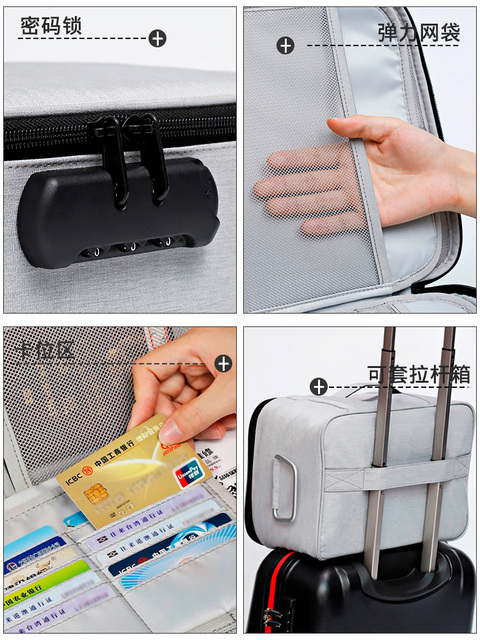 Zipper Storage Bag Large Clothes Luggage Compression Lock Reclosable Storage Bag Portable Travel Home Organization OO50SN 6