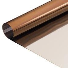 Hohofilm brown estática espelhada uma maneira espelhada filme, prata auto-adesivo que bloqueia a luz reflexiva matiz da janela, privacidade hea