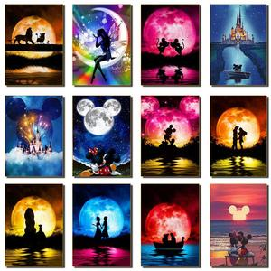 wall stickers Cuadros dimond art 5D Diamond painting kit set Cross stitch colours Cartoon princess mouse animals homefun tools
