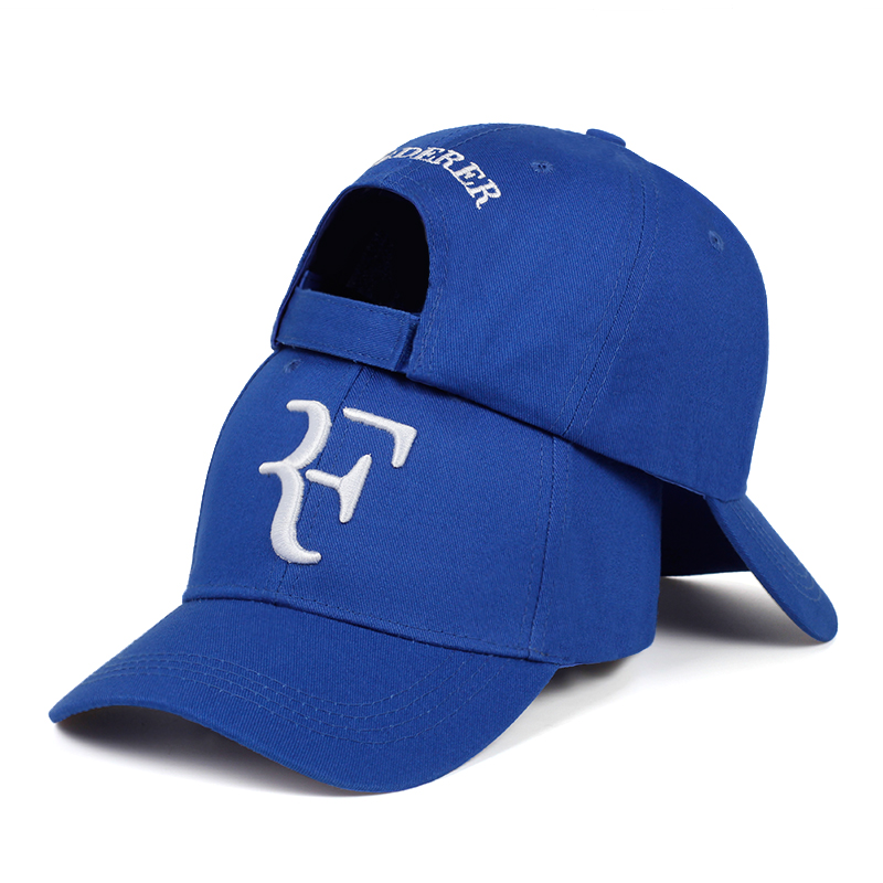 2019 new Tennis Star Roger Federer Dad Hat Sport   baseball     cap   100% cotton 3D embroidery Unisex Snapback   caps   Tennis hat F Hats