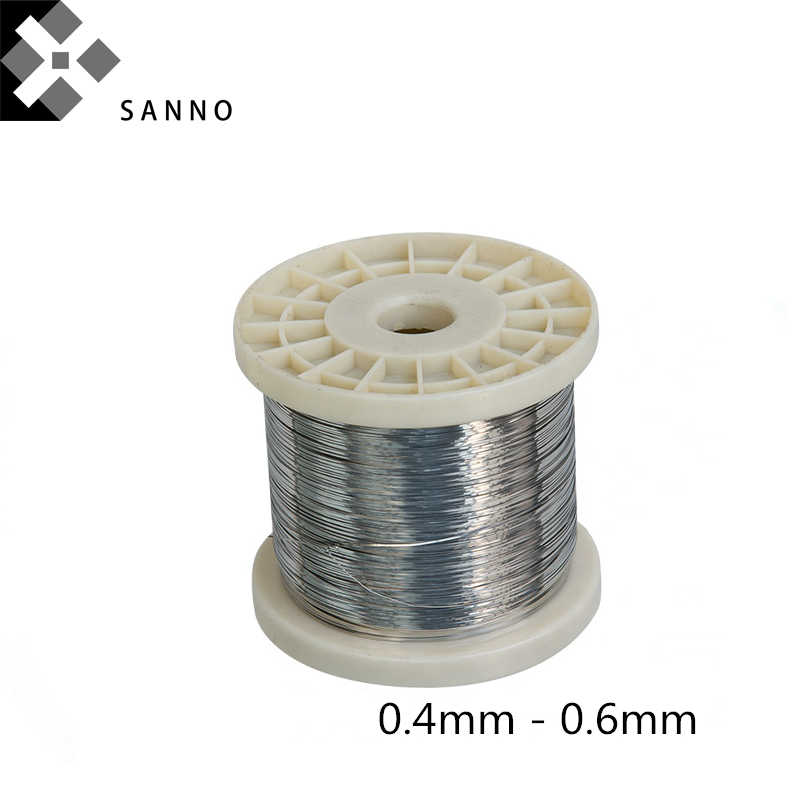 1 coil 10 m stainless steel twisted wire silver 0.38 mm