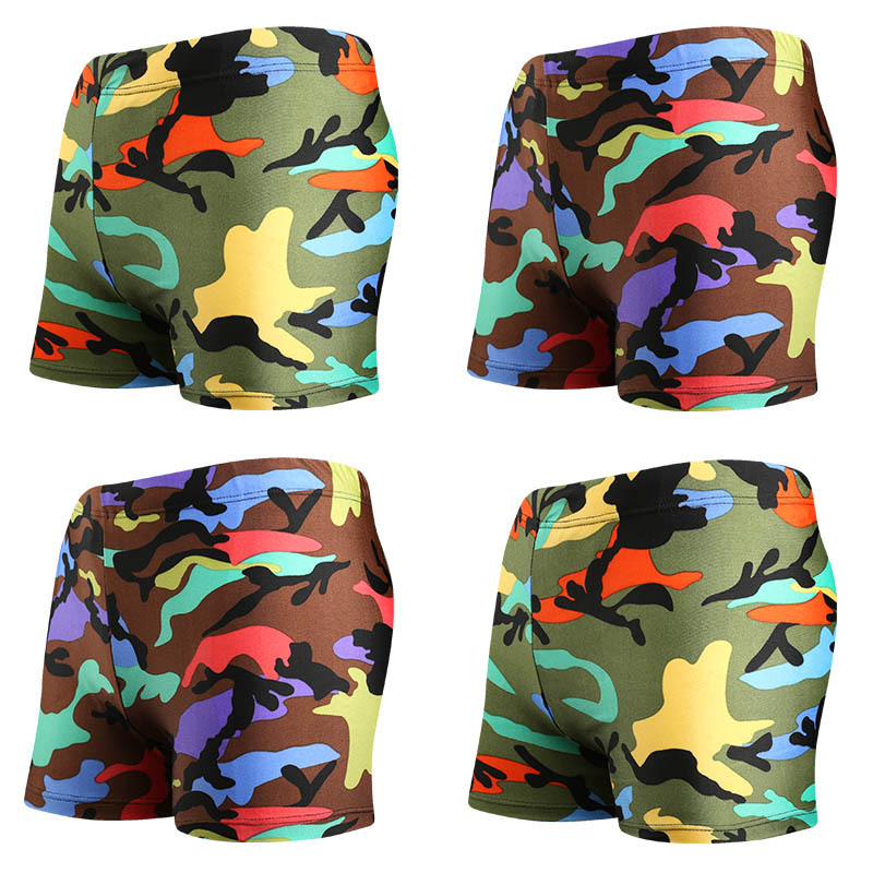 Manufacturers BOY'S Swimming Trunks Beach Shorts Children Boxers Lace-up Camouflage Boy Swimming Trunks Wholesale YKZT201620