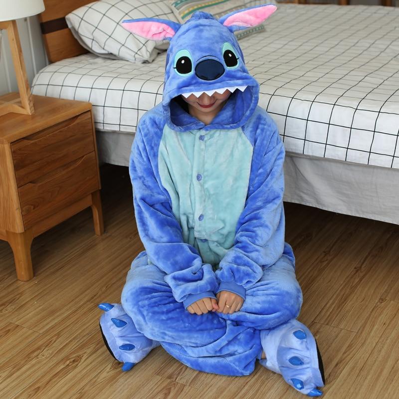 Ultimate SaleNightwear Pajamas Costumes Sleepwear Onesies Unicorn Totoro Flannel Anime Kigurumi Adults