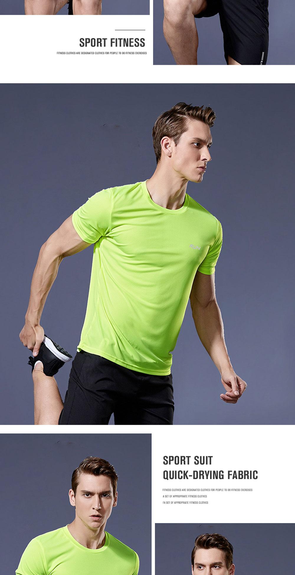 Men's Short Sleeve Running Shirt