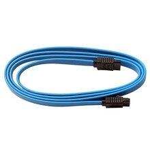 1M Em Linha Reta Cabo de Dados Serial ATA SATA III 3.3ft Locking Engatamento Azul