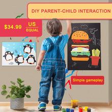 10 Designs Children Craft Kit Cartoon Animal manual painting Sticker 3D Handmade DIY Creative Toys Kindergarten Education gift