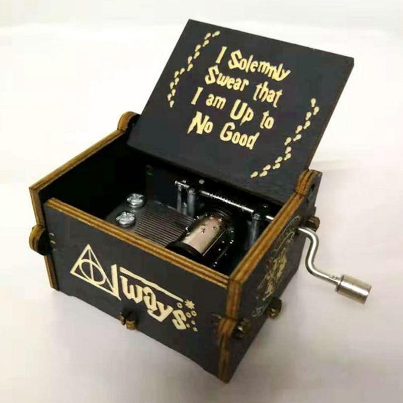 Harri Potter Music Box Mechanism Yunsheng Moana  Game Of Thrones Star Wars DIY Wooden Music Box Figure Baby Toys Party Supplies
