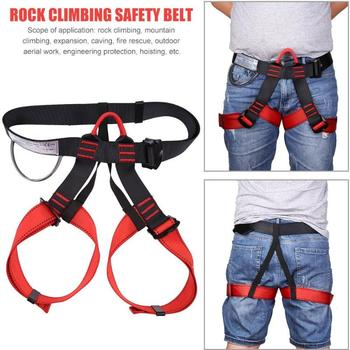 Outdoor Sports Tree Rock Climbing Harness Falling Protection Waist Support Half Body Safety Belt Rappelling Escalade Equipment