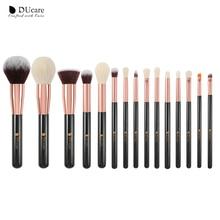 DUcare brushes Black 15PCS Makeup Professional Make up Natural hair Foundation Powder Highlight Brush Set