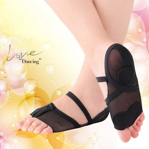 Almofada do pé Barriga de Fitness Ushine Profissional Cheio Workout Ballet Dança Yoga Meias Sapatos Mulher