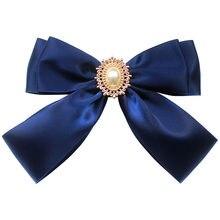 Prosta moda damska muszka College Style JK jednolity kołnierzyk koszuli akcesoria Bowtie 15*10cm osobowość ręcznie robiona biżuteria