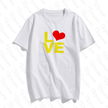 2020 New Fashion Cotton Female T-shirt Funny Love Simple Artwork Print Short Sleeve Tops & Tees Casual T Shirt Brand Clothing new cotton women t shirt friends tv fashion art fashion artwork print short sleeve tops