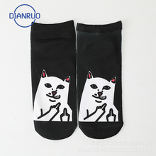 Happy-Skateboard Socks Unicorn Fruits Flamingo Harajuku Animal-Pattern Funny Cartoon