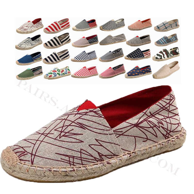 Linen Nam Giày Lười Nam Đế Bằng Nghề Dệt Người Cá Giày Bé Trai Handmade Phẳng Espadrilles Thanh Lịch Lái Xe Giày