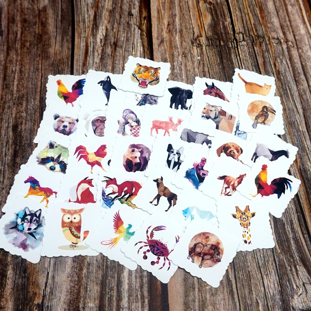 35pcs Waterproof Galaxy Animal Stickers DIY Planner Scrapbooking Stationery Diary Stickers Photos Albums Kids Gift Stickers Toy