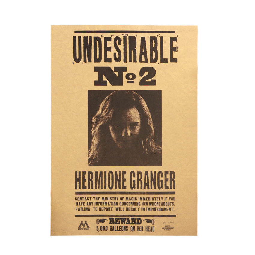 Hermione movie poster bar cafe home decoration kraft poster wall sticker
