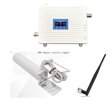 Cell Phone networ Booster Tri Band Signal communication Repeater  GSM 2G 3G 4G Cellular signal Amplifier  900 1800 2100 mhz  set