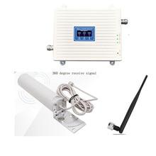 Cep telefonu ağ güçlendirici Tri bant sinyal iletişim tekrarlayıcı GSM 2G 3G 4G hücresel sinyal amplifikatörü 900 1800 2100 mhz set